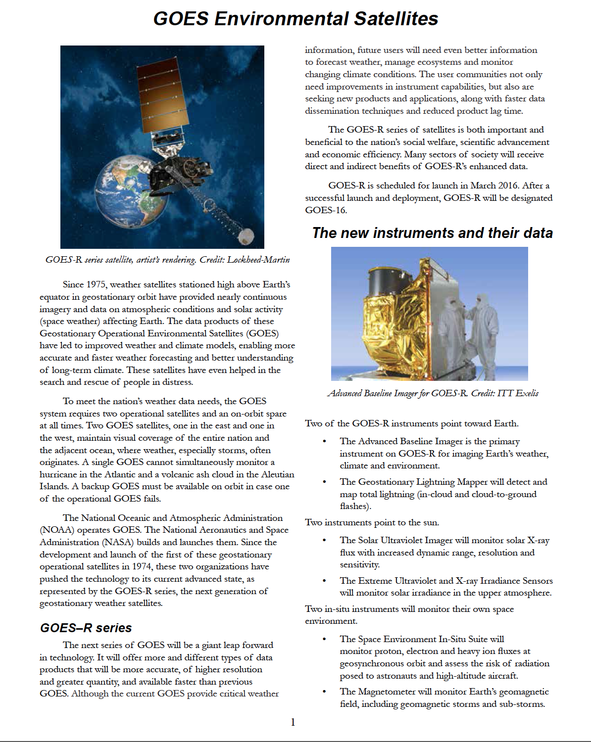 image: Poster back: GOES-R Products