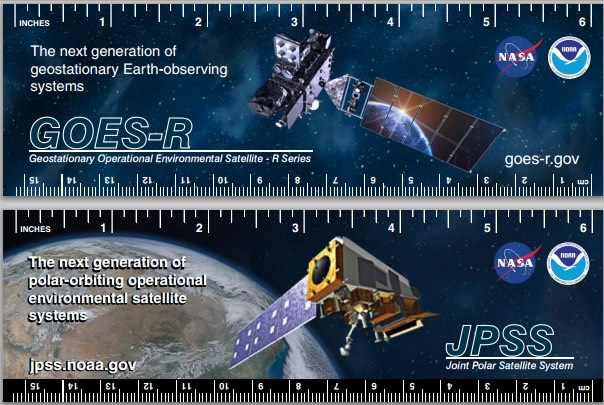 image: GOES-R Ruler and Bookmarks