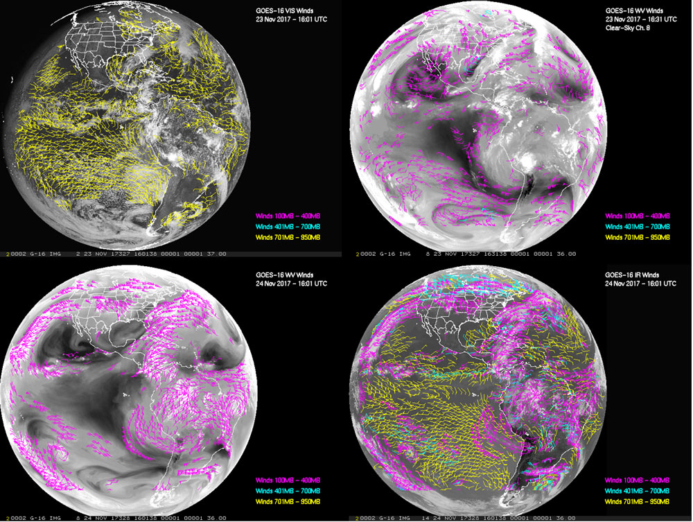 GOES-16 full disk visible channel winds