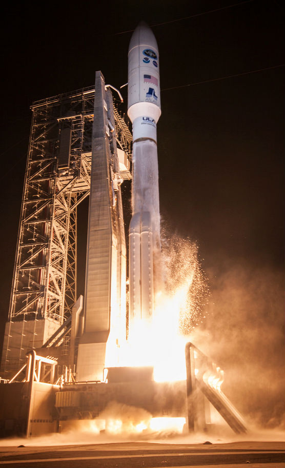 GOES-R Launch at nite.