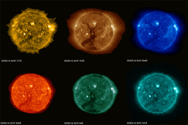 First Solar Images from SUVI