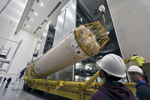 GOES-S Centaur Upper Stage Arrives at Delta Operations Center