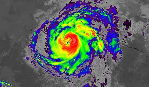 GOES-16 saw its first hurricane