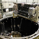 GOES-R Satellite Lowered into Thermal Vacuum Chamber