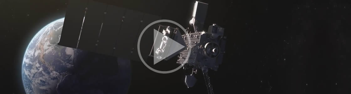 view of goes-r in orbit